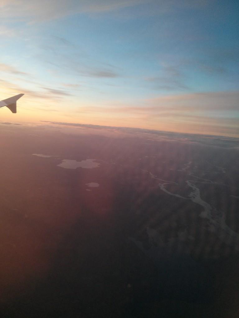 Landeanflug auf Island