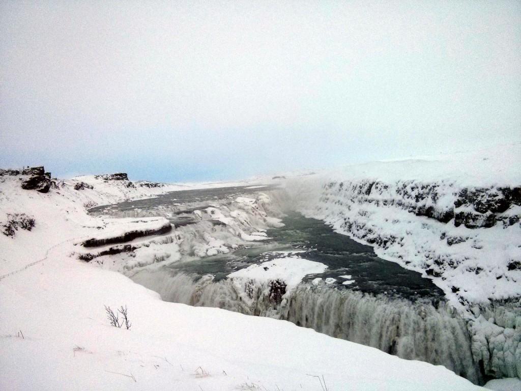 Der Gullfoss im Winter