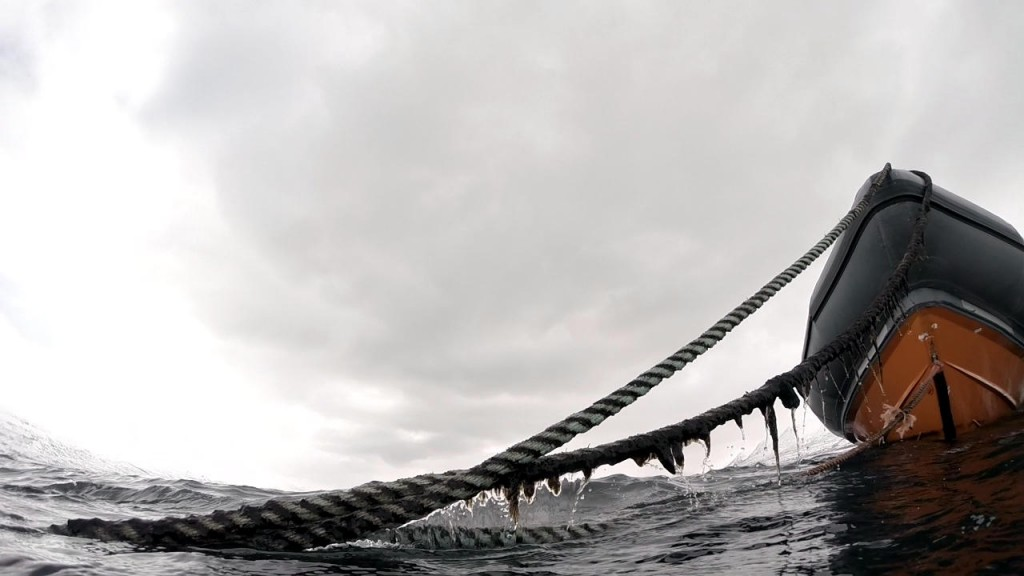 Ein letzter Blick zum Boot in Strytan