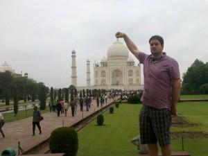Begeisterung am Taj Mahal in Indien