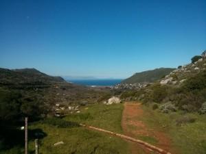 Die Aussicht auf die False Bay von Silvermine aus